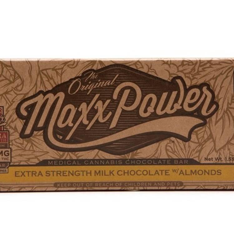 Super Maxx Chocolate Bars - Extra Strength 180mg-Milk Almond-Dark  - Edible
