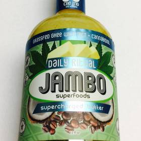 Jambo Ghee Supercharged Butter - 50 MG of pure CBD. No THC, lactose free, gluten free, and certified paleo. - Edible