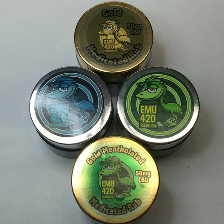 EMU 420 Essentials GOLD Medicated Rub - 50mg CBD 1oz. Jar - Topicals