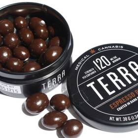 Terra Espresso Beans - 120mg - Espresso beans covered with an indica based dark chocolate. - Edible