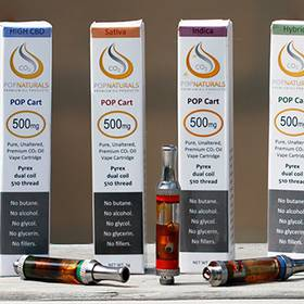 High CBD CO2 Oil Cartridge from POP Naturals