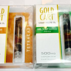 Tetralabs Gold Cart Strain Specific - Strawberry cough, Girl Scout Cookies, Super Lemon Haze, Gorilla Glue - Concentrate